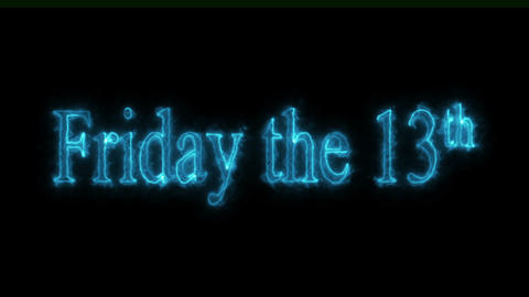 Friday the 13th ghostly Loopable Video Animation