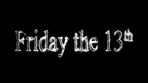 Friday the 13th Old Horror Movie Style Loopable Video Animation