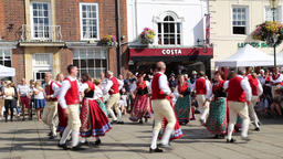 Winnzertanzgruppe German dance group performing at Wallingford UK as part of the Archivo