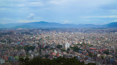 View of Kathmandu from the hill Footage