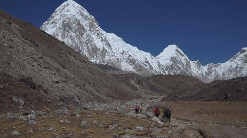 Hiking in Himalaya mountains Footage