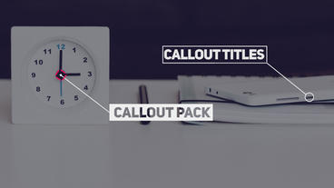 20 Callout Pack Premiere Pro Template
