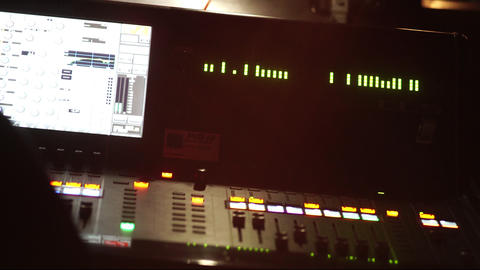 Audio mixing console Footage