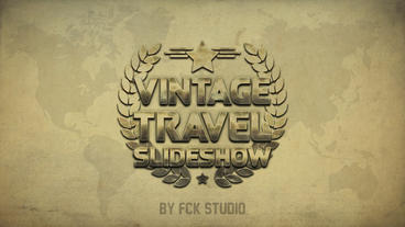Vintage Travel Slideshow Apple Motion Template