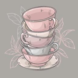 cups on grey background ベクター