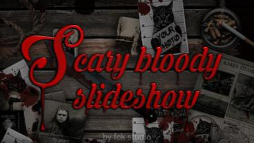 Scary bloody Slideshow Apple Motion 模板