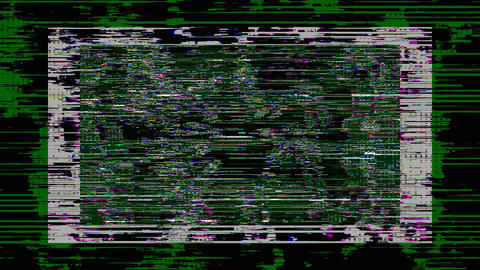 Datamosh Tv Noise Damaged Distorted Filmstrip Background Animation