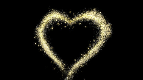 Magic Particles Stars Heart 2K GIF