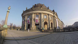 Time Lapse: Tourists At The Bode Museum In Berlin, Germany Footage