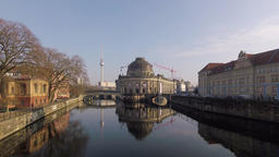 Bode Museum With TV Tower In The Background In Berlin, Germany Footage