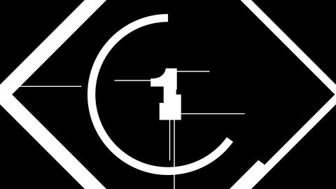 Glitch countdown - Count01 Animation