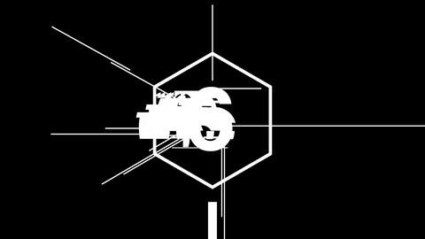 Glitch countdown - Count06 Animation