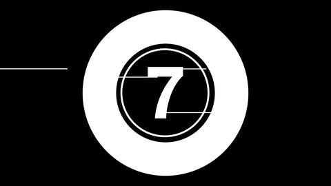 Glitch countdown - Count07 Animation