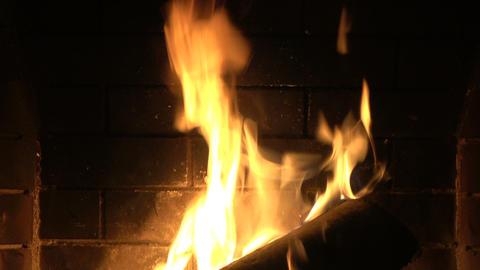 Fireplace Close Up 2 Footage
