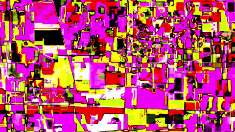 Glitch Datamosh Noise Colored Geometrical Distorted Animation Background Animation