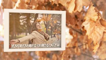Winter autumn spring photo studio/slideshow for 12/24/36 photos Template After Effect