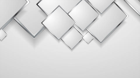 Abstract grey silver metal squares video animation Animation