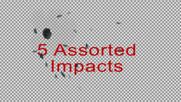4K Bullet Holes On Painted Metal For AE After Effectsテンプレート