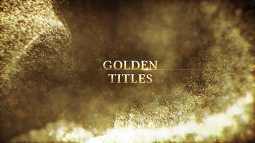 Golden Titles After Effectsテンプレート
