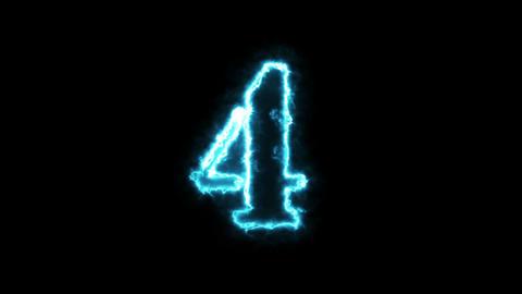 Blue Energy Countdown 10 - 0 Animation