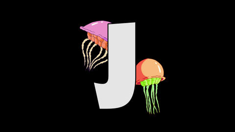 Letter J and Jellyfish (foreground) Animation