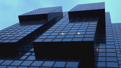 Modern glass buildings in the City of London - LONDON, ENGLAND Live Action