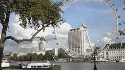 London Eye and River Thames - LONDON, ENGLAND Live Action