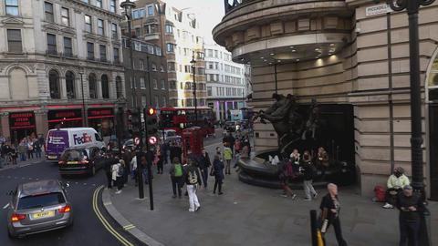 Street corner at London Haymarket - LONDON, ENGLAND Live Action