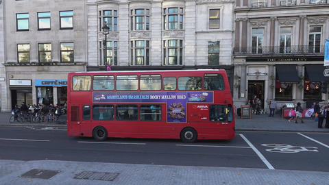 London Bus - LONDON, ENGLAND stock footage