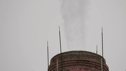The smoke comes from the chimney Footage