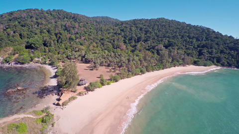 Flying over south coast of Lanta island, Thailand Footage