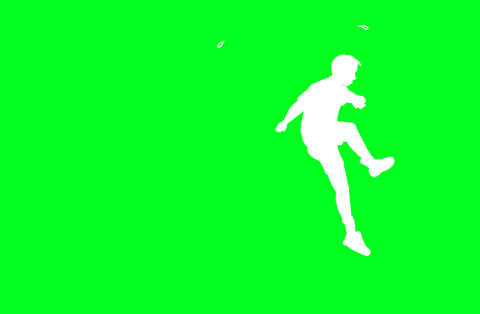 Man jumping over hurdles Animation