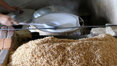 Making rice paper Footage