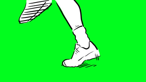 Running feet Animation