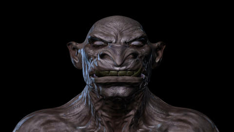 Digital 3D Animation of a morphing Creature Face Animation