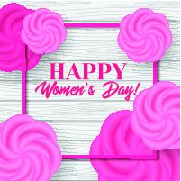 Happy womens day. Vector greeting card template Vector