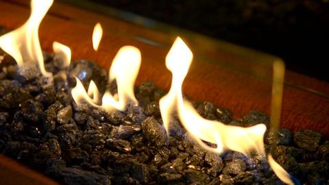 Modern bio fireplot on ethanol gas close-up Footage
