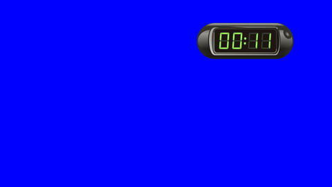 30 second digital countdown timer counter right black isolated