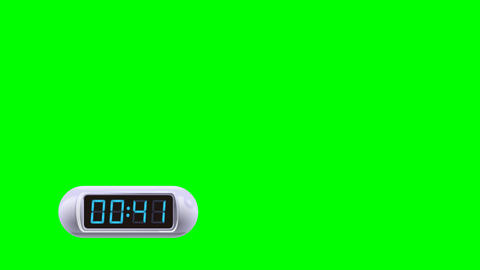 50 second Real time Digital Timer. Left, white, isolated, green screen GIF