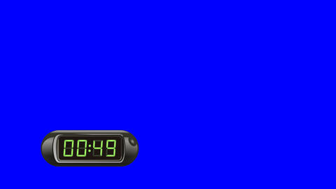 60 second Digital Countdown Timer, Counter. Left, black, isolated GIF