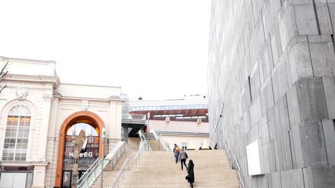 VIENNA, AUSTRIA - AUGUST 08, 2015: Mumok (Museum Moderner... Stock Video Footage