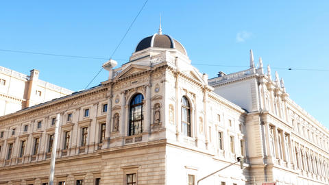 tracking shot on the city hall, Vienna Footage