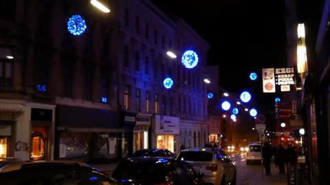Christmas lights, Vienna Footage
