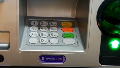 Close-up of an ATM. Thailand Image