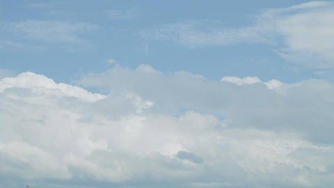 Time lapse clouds in blue sky Footage
