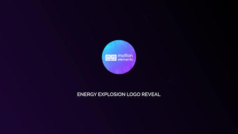 Energy Explosion Logo Reveal After Effects Template
