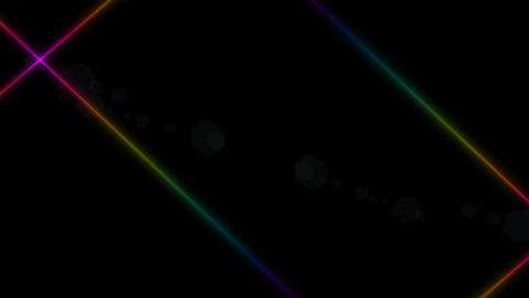 intersecting stripes on a black background. colored stripes. Place for text Footage