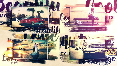 Vintage Story (Brush Strokes Slideshow) After Effects Template