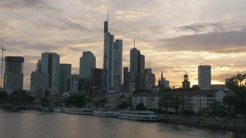 Sunset downtown skyline cityscape ภาพวิดีโอ