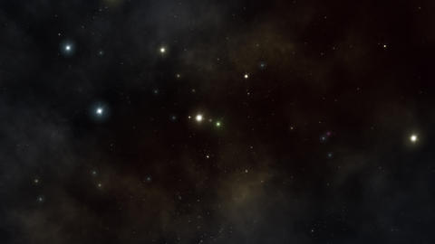 Flying In Stars Universe Animation